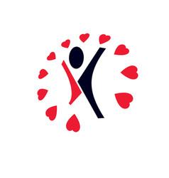 Healthy lifestyle conceptual logo symbol for use vector