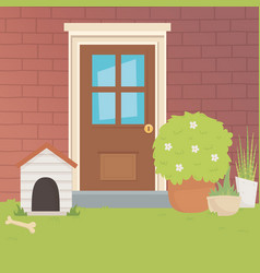 house for mascot design vector image