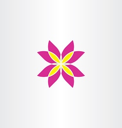 Icon flower abstract symbol sign vector