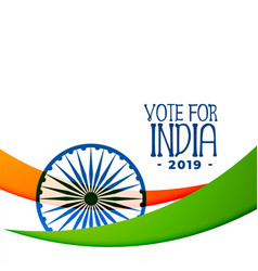 indian 2019 election background design vector image