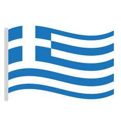 Isolated greek flag vector