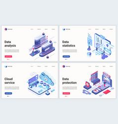 Isometric cloud data center vector