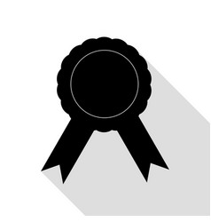 label sign ribbons black icon with flat style vector image