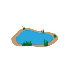 lake icon design template isolated vector image