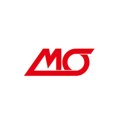 letter mo simple rotate line geometric design vector image