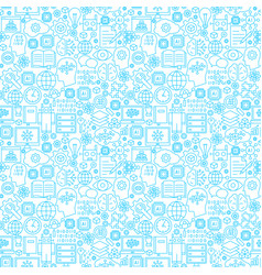 machine learning line seamless pattern vector image