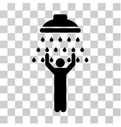 man under shower icon vector image