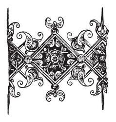 Manuscript ornament are late gothic vintage vector