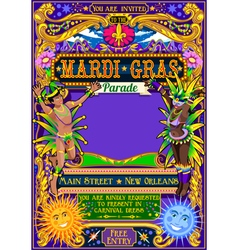 Mardi Gras Carnival Poster Carnival Mask Show vector