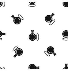 medallion pattern seamless black vector image
