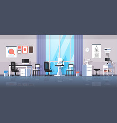 Modern ophthalmologist office interior design vector