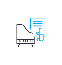 music lessons thin line stroke icon music vector image
