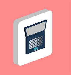 Netbook notebook simple icon symbol design vector