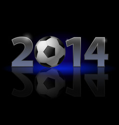 new year 2014 metal numerals with football vector image