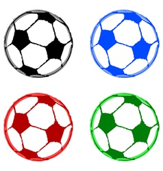 Painted soccer balls vector