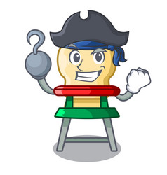 Pirate character baby eat on highchair indoors vector