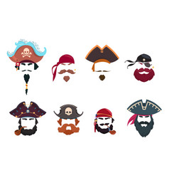 Pirate mask funny face photo filters pirates vector