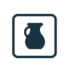 pitcher icon Rounded squares button vector image