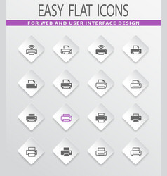 print icons set vector image