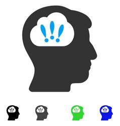 Problem brainstorm flat icon vector