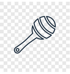 rattle toy concept linear icon isolated on vector image