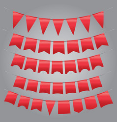 set of vintage red garland vector image