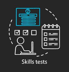 skills tests chalk concept icon vector image