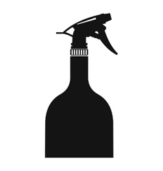 Sprayer bottle black simple icon vector image