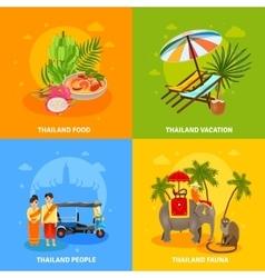 Thailand Concept Set vector