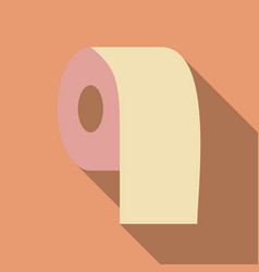 Toilet paper with long shadow in flat style vector