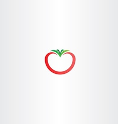 Tomato icon logo sign vector