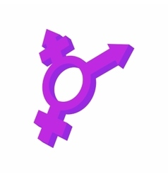 Transgender sign icon cartoon style vector image