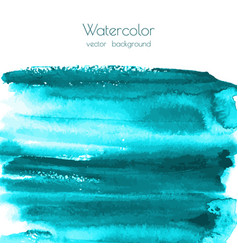 turquoise blue watercolor painted texture vector image