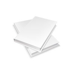 Two white blank books vector image