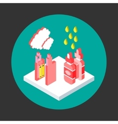 vaping isometric flat style vector image