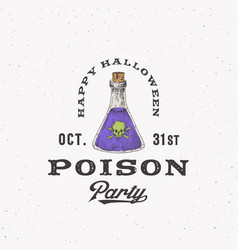 vintage style halloween logo or label template vector image