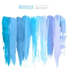 watercolor hand painted stripes vector image