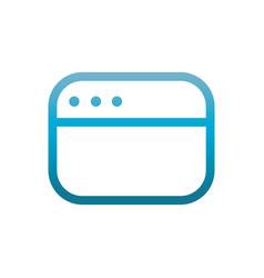 website user interface blue gradient vector image
