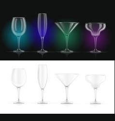 wine champagne martini vector image
