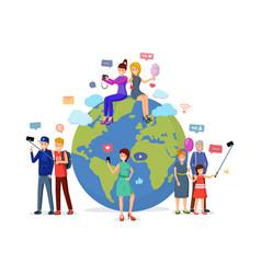 worldwide social media leisure vector image