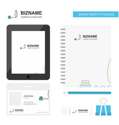 Writing business logo tab app diary pvc employee vector