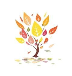 autumn leaves yellow tree vector image