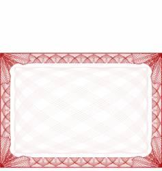 certificate border vector image vector image