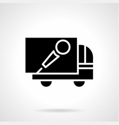 concert advertising car glyph style icon vector image
