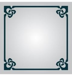 Elegant Celtic frame vector image