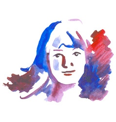 girl watercolor on white vector image vector image