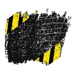 grungy background texture with black and yellow vector image