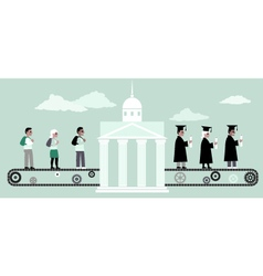Higher education machine vector image