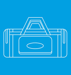 road bag icon outline style vector image