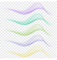 set abstract wave vector image vector image